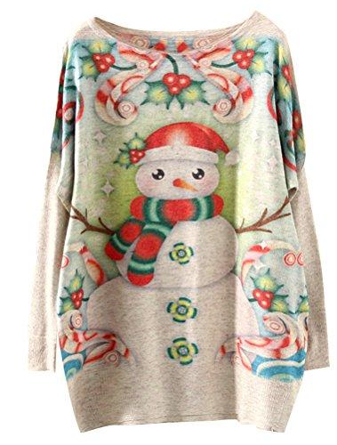 Thmatiques Basique Femme Tricot Beige Style2 Lger Top Petit Manches Imprims Pull a MatchLife Longues Haut Zw7Sq8dd