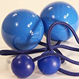 Play Pair of Contact Poi Pro with 80mm Stage Ball- Blue
