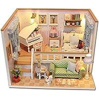 DIY Miniature Wooden Doll House Furniture Kits Toys Handmade Craft Miniature Model Kit Toys