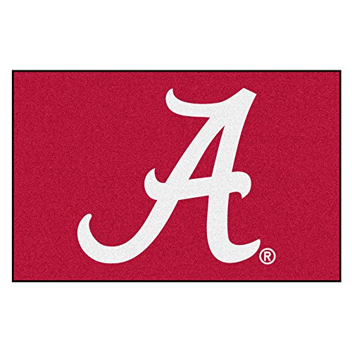 (FANMATS NCAA University of Alabama Crimson Tide Nylon Face Starter Rug)