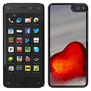 LECELL--Funda protectora / Cubierta / Piel For Amazon Fire Phone -- El amor del Corazón de Invierno --