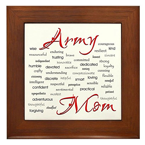 (CafePress - Army Mom Poem in Words - Framed Tile, Decorative Tile Wall Hanging)