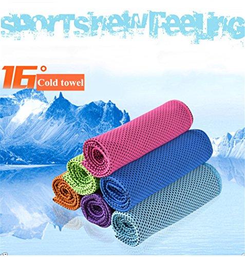 ZYCC Kühlung Handtuch Super Absorbent Snap Cool Towel Männer Frauen für Sport, Workout, Fitness, Yoga, Outdoor, Reisen, Camping 1 Pack Lila
