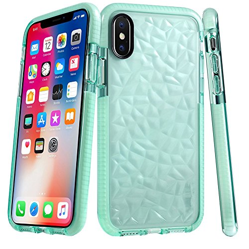 Price comparison product image Boofab iPhone X Case,  Shock proofing Ultra Thin Slim Fit Flexible Soft TPU Transparent Crystal Clear Cover Case for Apple iPhone X (green)