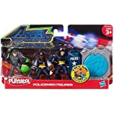 Playskool, Adventure Heroes Action Figures, Policemen Figures (2 Policemen and Burglar)