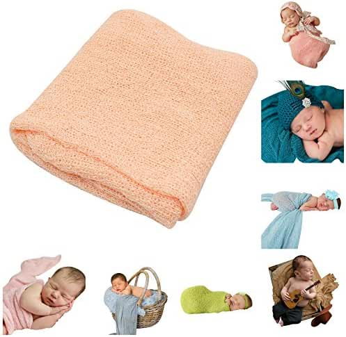 JLIKA Newborn Baby Photography Photo Prop Stretch Wrap - 28 Colors to Choose From
