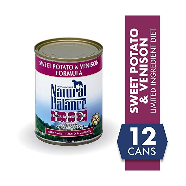 Natural Balance Limited Ingredient Diets Sweet Potato & Venison Formula Wet Dog Food, 13 Ounces (Pack of 12)