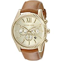 Michael Kors Men's Lexington Gold-Tone Watch MK8447