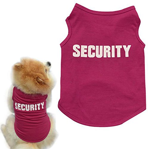 OutTop Cute Pets Small-Sized Dogs T-Shirt Vest Mr.[ Security] Guard -