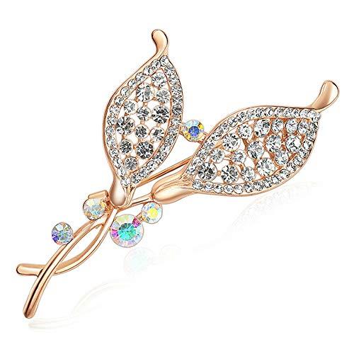 (Vintage Gold Alloy Rhinestone Crystal Flower Wedding Bridal Bouquet Brooch Pin (StyleID -)