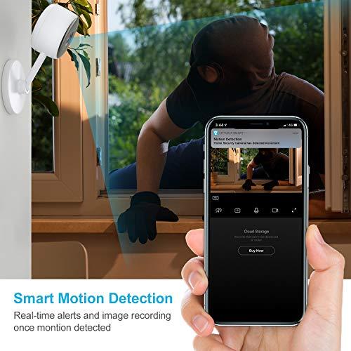 Überwachungskamera, Littlelf 1080P HD WlAN IP Kamera, Babyphone mit kamera mit 2-Wege Audio/ Bewegungserkennun/Nachtsicht, Innen Sicherheitskamera für Haustier und Baby Monitor, Funktioniert mit Alexa