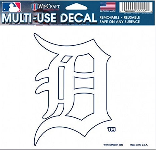 WinCraft MLB Detroit Tigers 14415032 Multi-Use Colored Decal, 5