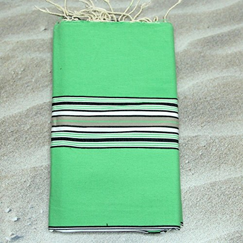Seville Vert - 100% coton fouta Serviette de hammam Serviette, 100 cm x 200 cm, Probablement le plus polyvalent que vous n'Aurez jamais acheter pour vous-même ou un cadeau.
