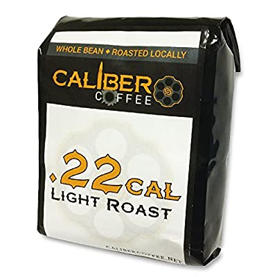 .22 Cal Smooth Roasted Coffee Beans Strong on Flavor High in Caliber Caffeine Rich 4oz Sampler Bag