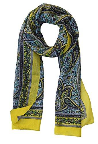 Paisley Silk Scarf: Yellow - Paisley Silk Scarve