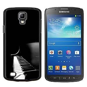 "Be-Star Único Patrón Plástico Duro Fundas Cover Cubre Hard Case Cover Para Samsung i9295 Galaxy S4 Active / i537 (NOT S4) ( Instrumento Piano Keys Negro Music Blanca"" )"
