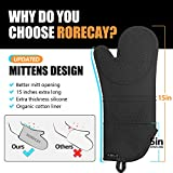 Rorecay Extra Long Oven Mitts and Pot Holders