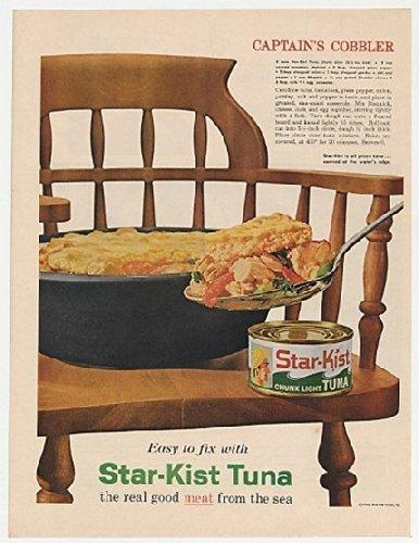 1961-star-kist-tuna-captains-cobbler-recipe-chair-original-print-ad