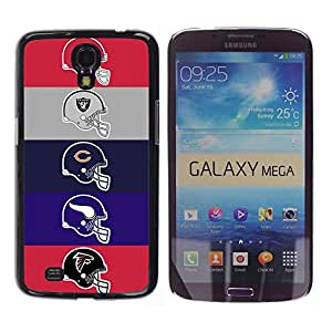 Equipo de fútbol Cascos - Metal de aluminio y de plástico duro Caja del teléfono - Negro - Samsung Galaxy Mega 6.3