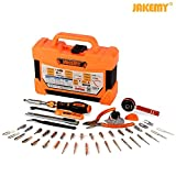 Jakemy 1/4-Inch Dual Drive Ratcheting Screwdriver Set (Wrench) , Magnetic Driver Kit, Professional Repair Tool Kit for iPhone, iPad, Cell Phone, Tablet, PC, Laptop, MacBook, Electronics Disassembly