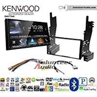 Volunteer Audio Kenwood DMX7704S Double Din Radio Install Kit with Apple CarPlay Android Auto Bluetooth Fits 2007-2008 Nissan Maxima
