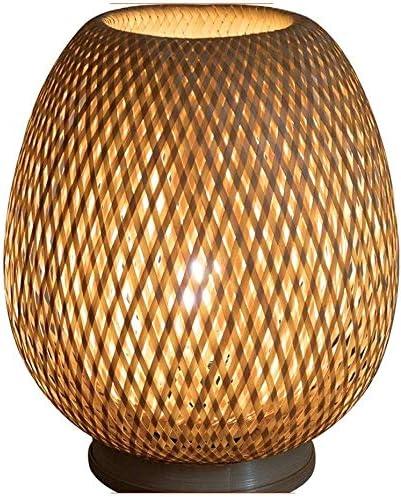 DBAF Lampe de Table Fait Main Lampe de Bureau en Bambou