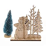 CAHEDSD 1Set Natural Christmas Wooden Ornaments DIY Wood Crafts for Home Table Decorations Christmas Party Supplies Kids Gift Snowman