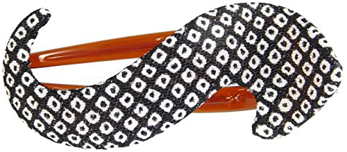 Annie Loto Kimono Hair Clip Accessories: Large S Clip (Black/White)