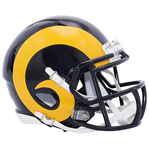 LA Rams Color Rush Officially Licensed Speed Authentic Football Helmet by Riddell