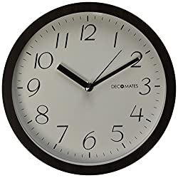 DecoMates Non-Ticking Silent Wall Clock, Small Numbers