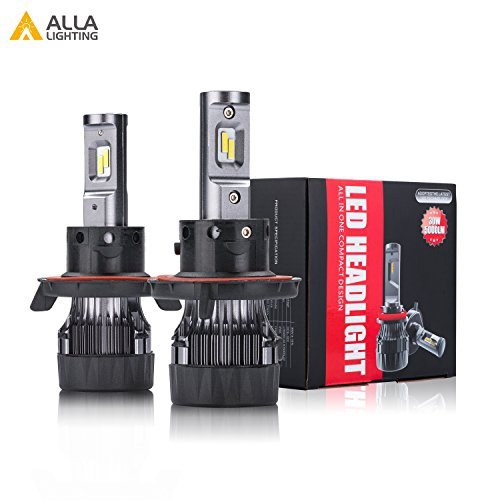Alla Lighting S-HCR 2018 Newest Version SUPER Mini H13 9008 Dual High/Low Beam LED Headlight Bulbs 10000 Lumens Extremely Super Bright Cool White High Power All-in-One Conversion Kits Headlamps (Jeep Compass Bulb)
