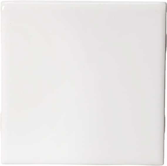 Daltile Semi Gloss 4 1 4 In X 4 1 4 In White Ceramic Bullnose Wall Tile Amazon Com