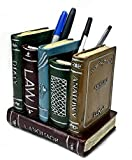 Bellaa 21055 Pen Pencil Holder Pot Book Bookends Statue Desktop Container Stationery Organizer Home Office Decoration Creative Gift