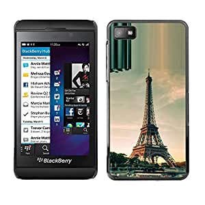 Design for Girls Plastic Cover Case FOR Blackberry Z10 Architecture Paris Eiffel Tower Day OBBA