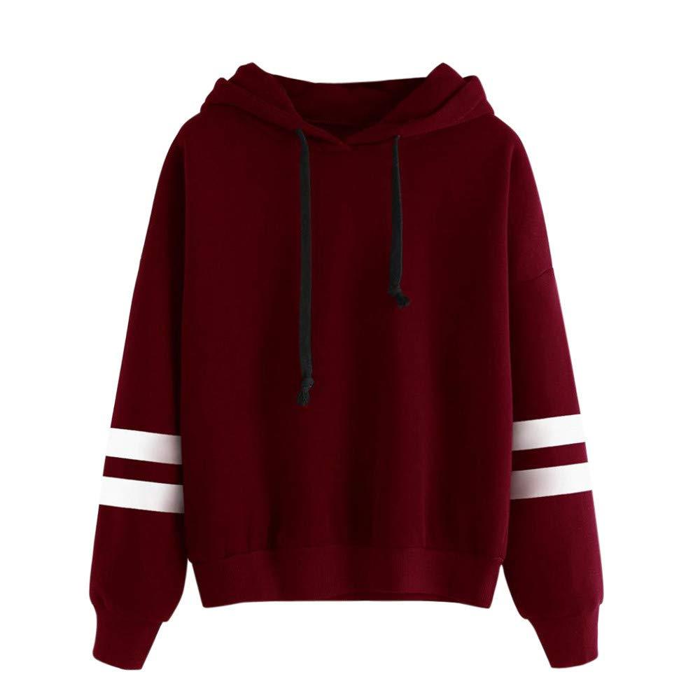 BaZhaHei Womens Long Sleeve Hoodie Casual Sweatshirt Ladies Jumper Shirt Fashion Hooded Pullover Tops Women Blouse Shirt O-Neck Coat Loose Jakcet Womens Sweatshirt