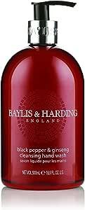 Baylis and Harding Black Pepper & Ginseng Hand Wash 500ml, 500 ml