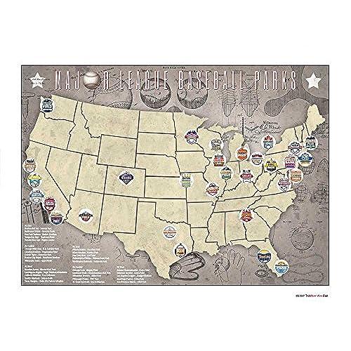 Major League Baseball Map Amazoncom - Map Of Us Baseball Teams