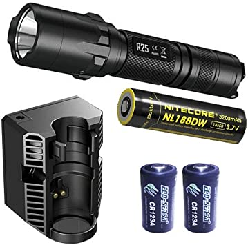 Nitecore R25 800 Lumen Rechargeable Tactical LED Flashlight with Charging Dock