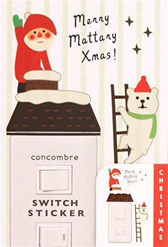 Decole Lindas Pegatinas navideñas para Interruptor de luz, con casa, tejado, Oso Polar en Escalera, Estrellas, Papá Noel y Merry Christmas: Amazon.es: Hogar