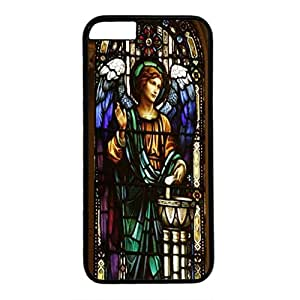 High Quality Case for iPhone 6 plus Photo Printed On The Single Back PC Black Case Cover For iPhone 6 plus Good Quality Hard Shell Skin For iPhone 6 plus with Archangel Raphael