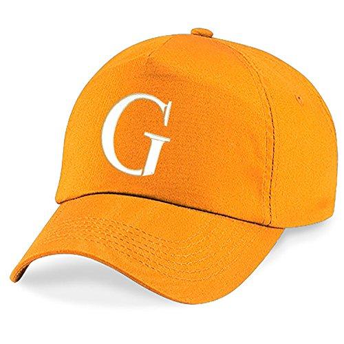 Alphabet Hat 4sold Niños Bordado G Gorra Niños Orange Escuela Z A qIxHXrYI