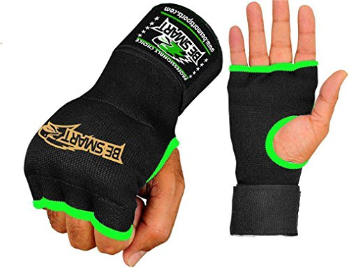 Padded Knuckle (Gel Inner Hand Wraps Gloves Boxing Fist Padded Bandages MMA Gel Thai Kick Carbon Fiber Aero Gel Padded Inner Gloves, 6 Colors (Green, Small))