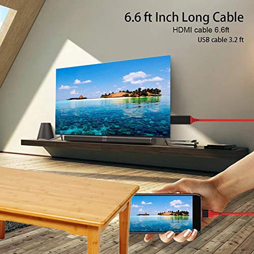 Compatible with iPhone to HDMI Adapter Cable, Digital AV Adapter, 1080P HDTV Connector Compatible with Phone 11 Pro Max XR 8 7 6 Pad to TV Projector Monitor