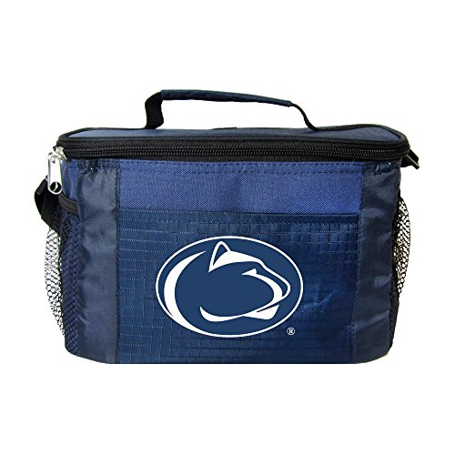 Box Lions Lunch (NCAA Penn State Nittany Lions Insulated Lunch Cooler Bag with Zipper Closure, Navy)