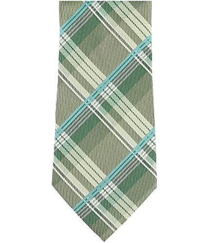 Geoffrey Beene Print Tie - Geoffrey Beene Mens One- Plaid Print Silk-Blends Neck Tie Green Not Applicable