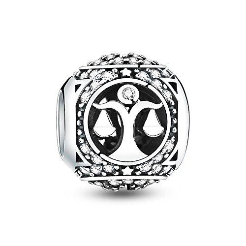 Glamulet Art - Libra Charm -- 925 Sterling Silver -- Fits Pandora Bracelet