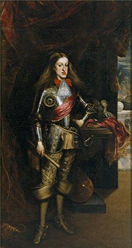 The polyster Canvas of oil painting 'Carreno de Miranda Juan Carlos II con armadura 1681 ' ,size: 16 x 30 inch / 41 x 76 cm ,this High quality Art -