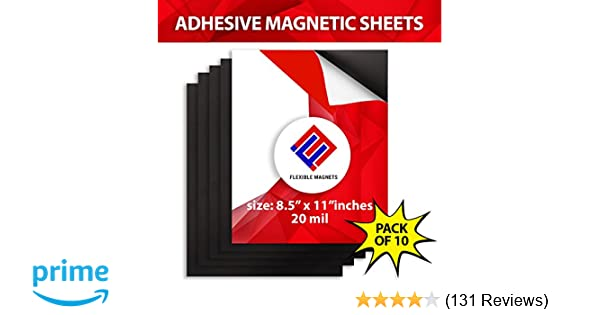 3b873c6cb374 Amazon.com: 10 Adhesive Magnetic Sheets - 8.5