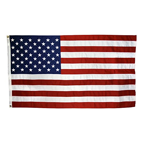(US Flag 4 x 6 ft: 100% American Made - Cotton - Embroidered Stars and Sewn Stripes)