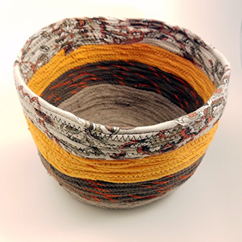 One of a Kind Fabric Bowl, Fall Colors, Coiled Basket